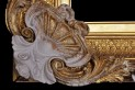 Water gilded frame. XIX century. Ireland. Close-up of the corner decoration of the frame after filling the losses of the gesso and reconstruction of the moulded decoration.