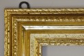 Water and oil gilded frame. XVIII century. Ireland. Style: British straight Loius XV. State after conservation.
