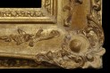 Water gilded frame. XIX century. Ireland. Style: Louis XV. Frame after surface dirt removal and reconstruction of the moulded decoration.